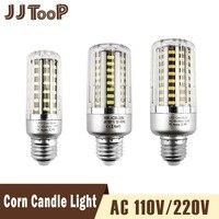 10 Packs LED Light E27 LED Lamp E14 LED SMD5736 220V Corn Bulb Corn Bulb Chandelier Candle Home Decoration 32 56 72 88 130 LEDs
