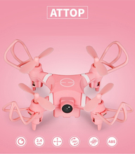 Sizzling promote Pocket hand-held distant management helicopter YD-A15 2.4G headless mode HD aerial mini selfile rc drone quadcopter mannequin