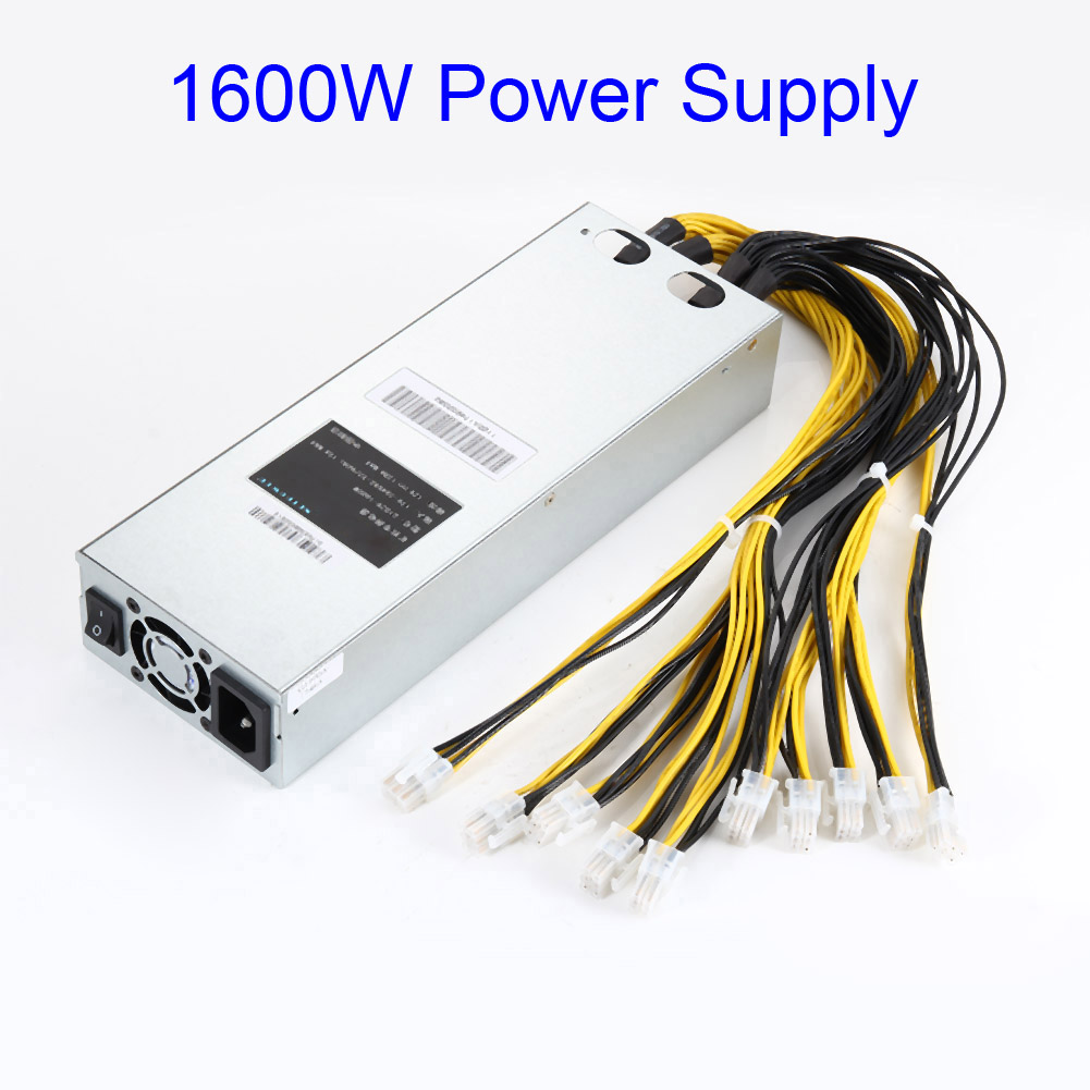 New 1600W APW3 Mining Power Supply Fits For Antminer Miner S9 S7 L3+ D3 QJY99 spot goods antminer s5 1155 gh s asic miner bitcon miner 28nm btc mining sha 256 miner power consumption 590w