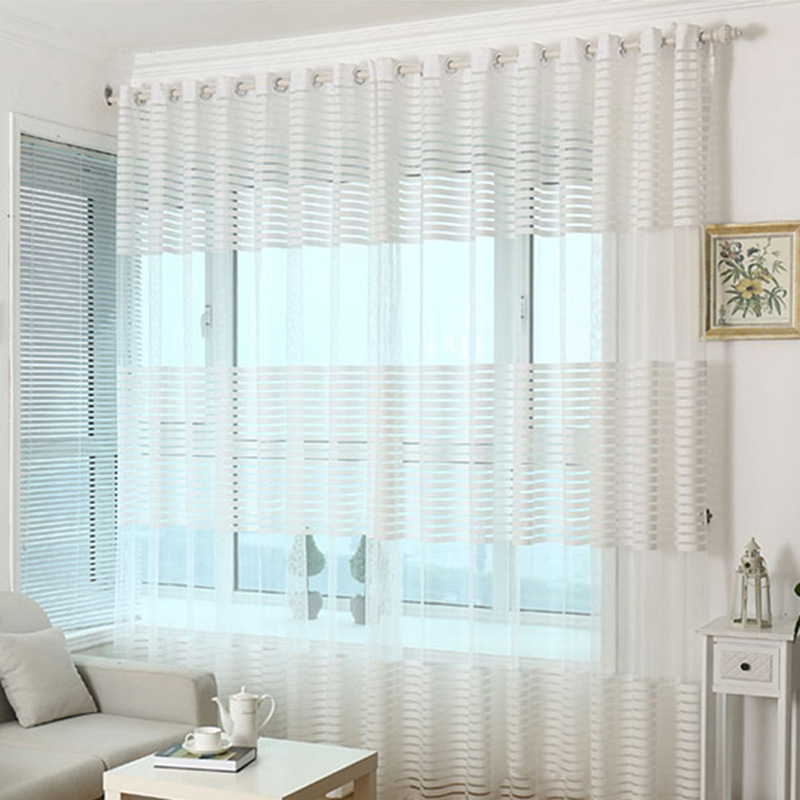 tulles children curtains Chinese 3D Window Curtains for bed room Tulle Curtains for living room white beige blue coffee 1pc