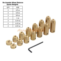 14 Pack Reusable Motorcycle Brass Wheel Spoke Balance Weights Refill Kits For Spoked Wheels