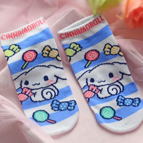 Dog Very Cute Adorable Big Ears Dog Bow Women Socks Funny Socks Harajuku Pink Alarm Clock Student Girls Cotton Cartoon Cotton