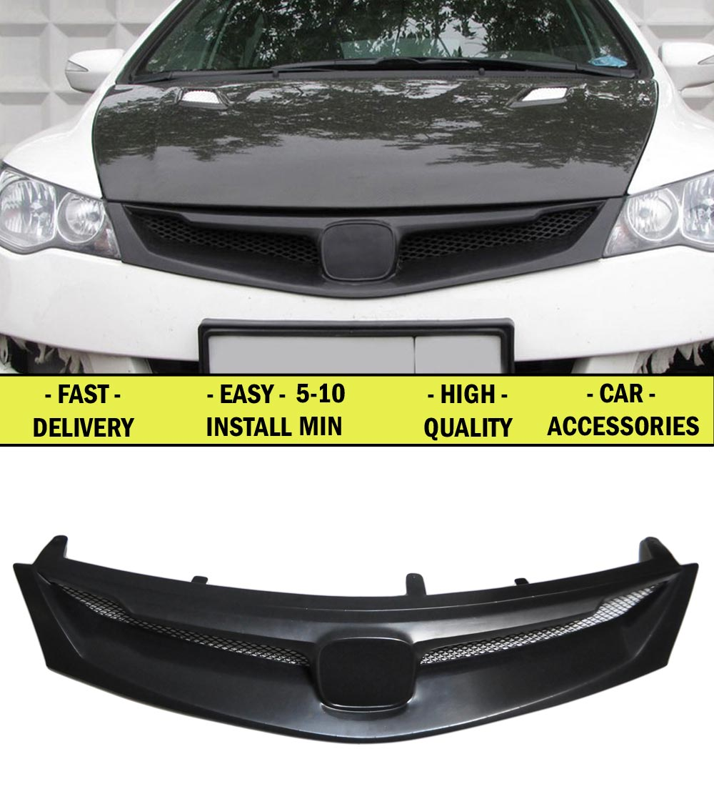 Radiator grille case for Honda Civic 4D 2006-2008-2011 ABS plastic tuning decor design sports styles car styling car accessories