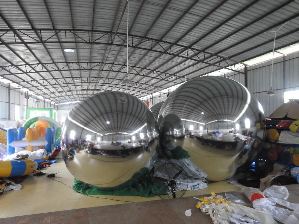 Oppustelige legetøj 5colors Populære opustelige spejlkugle til reklame, fabrik tilpasset ballon dekoration til salg