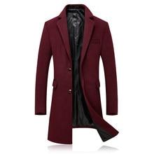 4XL Hombre Abrigos y chaquetas de invierno chaqueta de los hombres de  negocios casuales de color 3ebac15be45