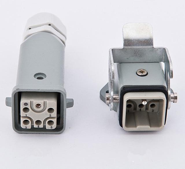 Engraving Machine Spindle Air Plug + Socket / Air Cooling Spindle Aviation Plug