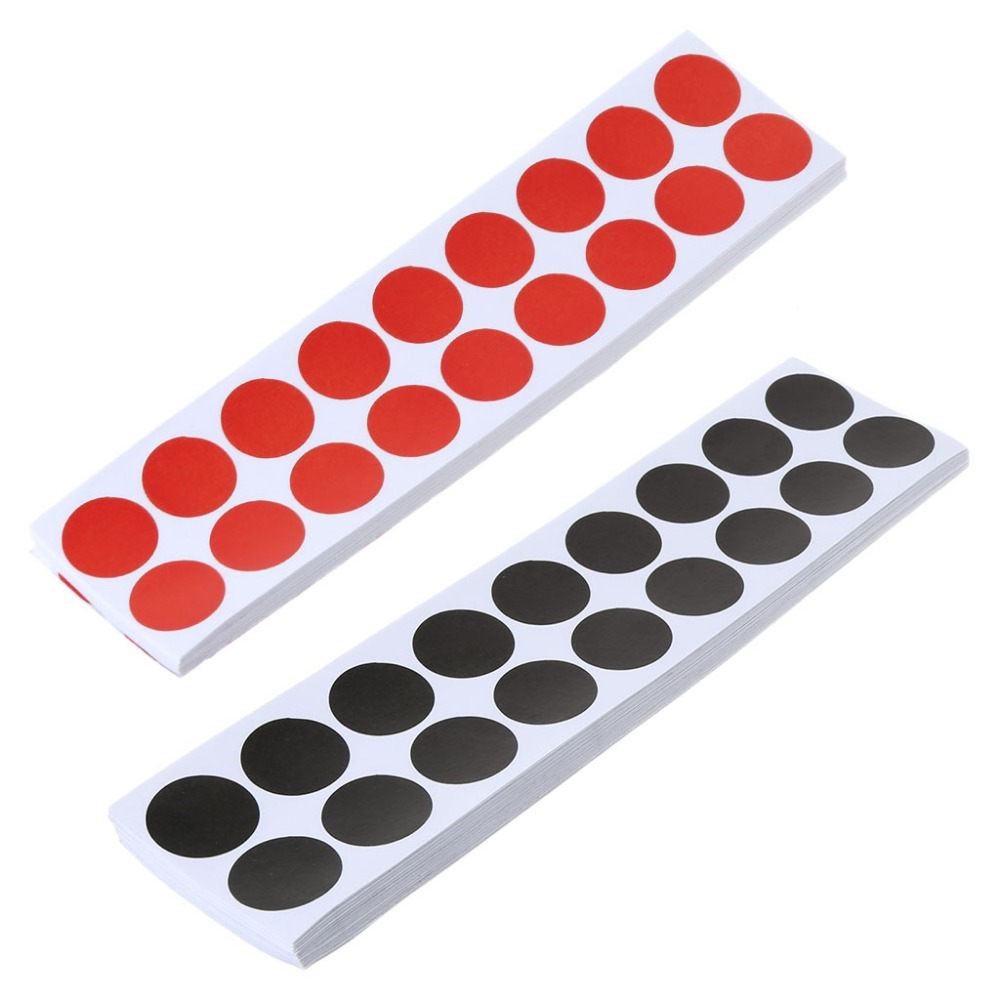 50 Pcs/Set Shooting Sticker Self Adhesive Target Replacement Repair Red/Black 20mm Tactical Hunting Practice Accessories