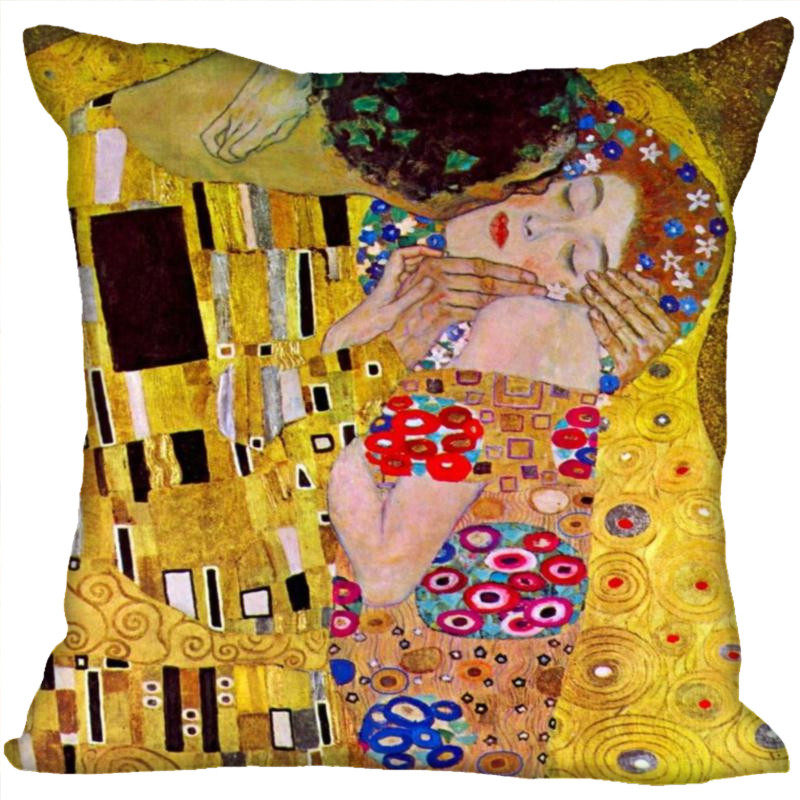 New Gold Painter Artist Gustav Klimt Painting 45X45 60x60 CM Soft Pillowcase Pillow Case Two Sides