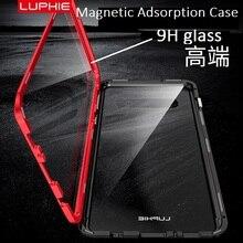 360 Полный Магнитный Адсорбция дело для samsung Galaxy S10 S8 S9 плюс примечание 9 закаленное Стекло Передняя Задняя Крышка случаях fundas