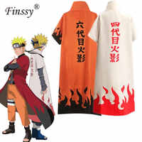 Anime Naruto Cosplay Kostüm Yondaime Hokage Namikaze Minato Uniform Mantel Kakashi Lehrer Sechs Yondaime Kostüm Outfit für Männer