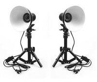 Photo Studio Kit lamp shade Table Top Portable Lighting + Light Stand kit For Soft Box Cube Tent + lamp