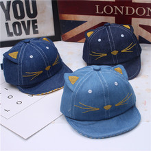 2017 High Quality Cute Fashion Cat Cap For Child Cap For Boy Girl Lovely Kid Hats Hat New Cowboy Baseball caps Cool Sun hat