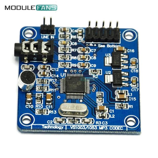 VS1053 MP3 Module Development Board w/ On-Board Recording Function SPI Interface OGG Encoding Recording Control Signal Filter