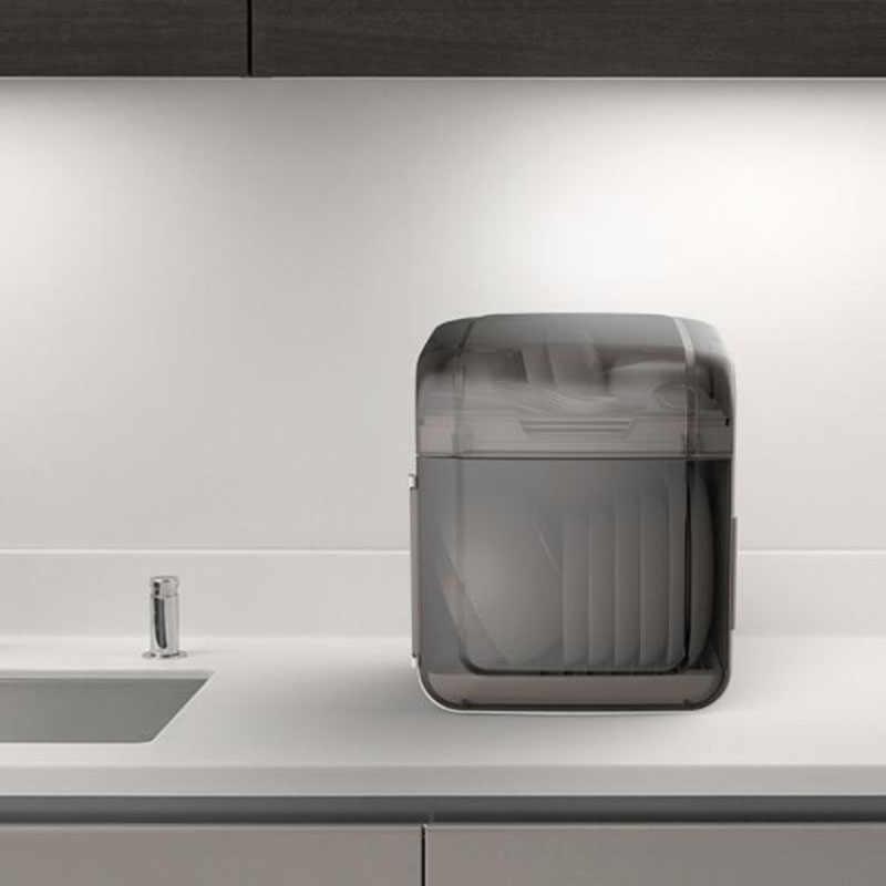 Bát cống tủ rack ba chiều dual-đĩa kết hợp dao kéo dao và nĩa lưu trữ hộp nhựa thoát nước giỏ