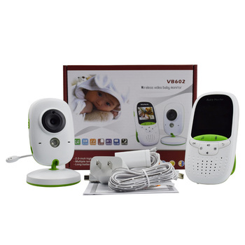 Wireless VB602 LCD Audio Radio Baby Sleeping Monitor 8 lullabie Intercom Camera Night Vision Portable Electronic Babysitter