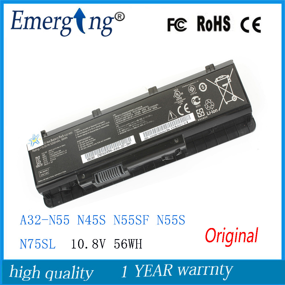 New Original 56WH Laptop Battery for ASUS A32-N55 N45 N45SF N55E N75S N45E N45SJ N55S N75SF N45F N45SL N55SF N75SJ N45J