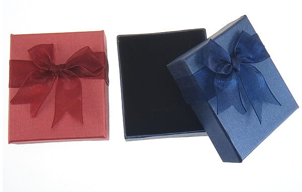 72Pcs Jewelry Boxes and Packaging Mixed 8x7x3cm Necklace/Earrings/Ring Organza Ribbon Valentine Gift Box for Jewellery display