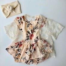 Newborn Kids Baby Girls Floral Clothes Sleeveless Romper Dre
