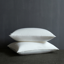 Brief White Hotel Style Pillows 48x74cm Cotton Fabric Polyester Filler Neck Pillow Massage Therapy Bedding Homeuse