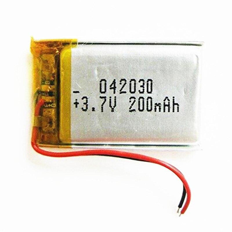 Bateria litowo-polimerowa 3.7 V, 402030 042030 200 mah może być dostosowane hurtownie CE FCC ROHS MSDS certyfikat jakości