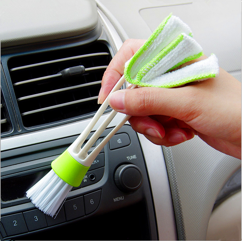 Auto Multi-Functional Car Cleaning Brushes Tool For Kia Rio K2 K3 Ceed Sportage 3 sorento cerato armrest picanto soul optima image