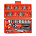 "46pcs Pdr Grip Herramientasspanner Socket Set 1/4"" Car Repair Tool Wrench Cr-v Hand Tools Combination Bit Kit Ad2001"