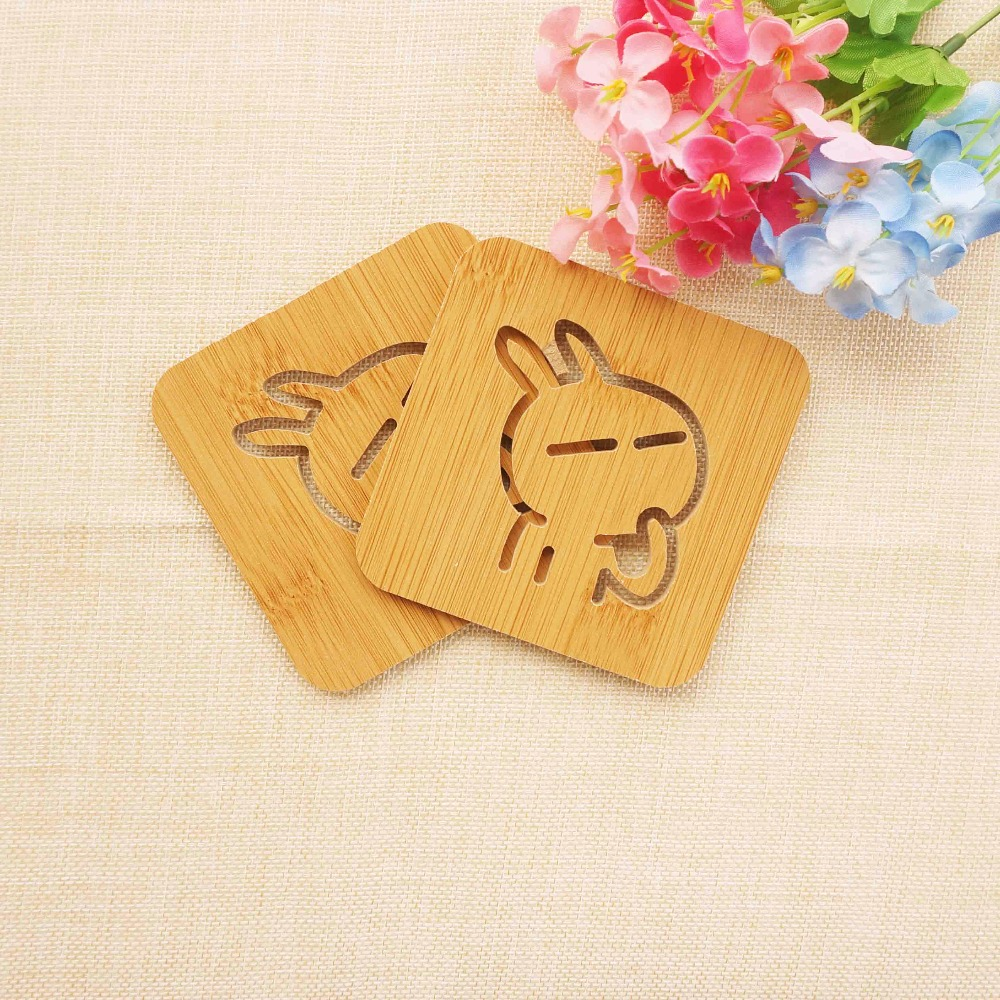 Bakeware Home & Garden Just 2pcs Non-slip Cute Cartoon Animal Cup Coaster Heat Insulated Pad Placemat Tablemat Kitchen Accessories Wear-resistant Table Mat