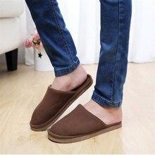 Men Anti-slip Velvet Home Slippers High Quality Women Men Slippers Plush Warm Indoor Shoes Men Women De8