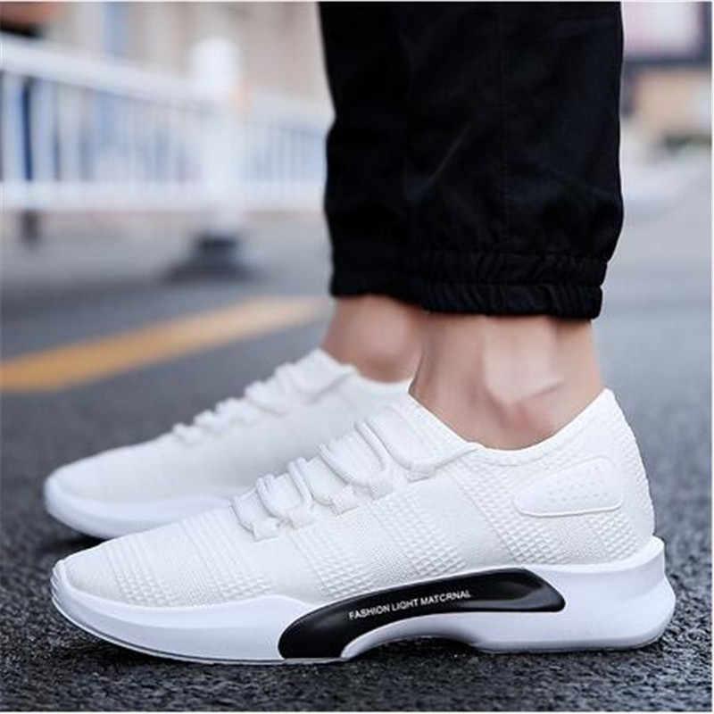 حجم Eu39-44 ستوكات جديد الربيع الرجال رياضية أحذية رياضي المشي إضاءة أحذية مريحة الدانتيل يصل رجل حذاء كاجوال حذاء رجالي