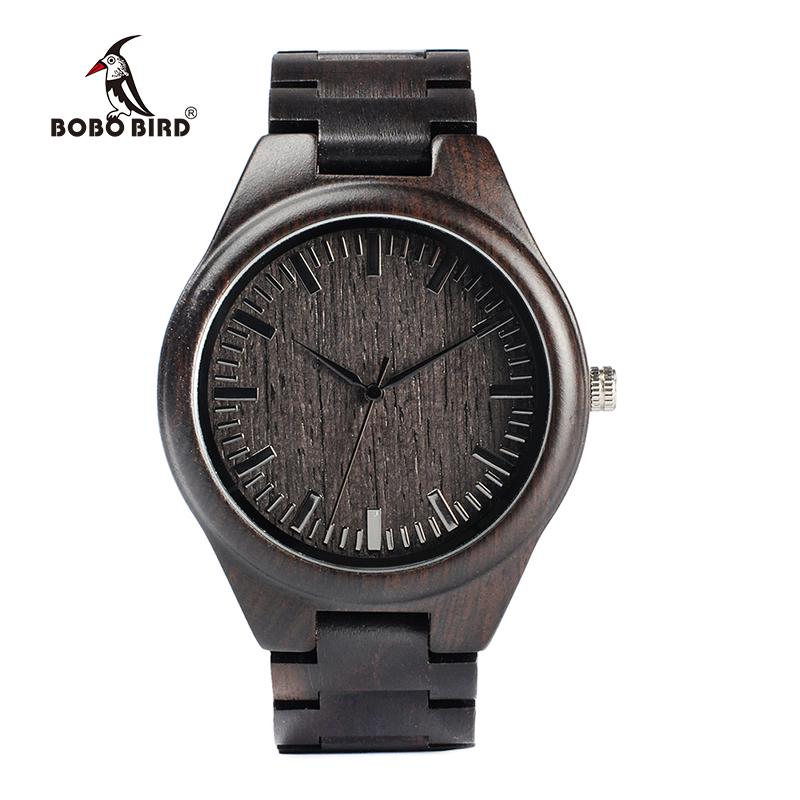 Zegarek drewniany Bobo Bird Heban H05 13
