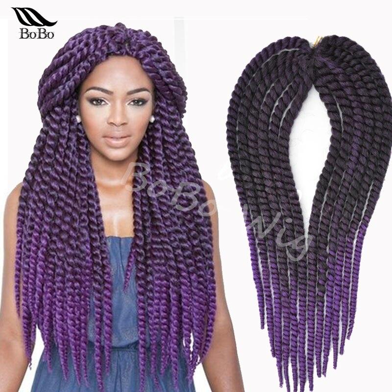55 cm havane mambo twist crochet tresse extensions de cheveux afro crépus synthétique tressage de cheveux
