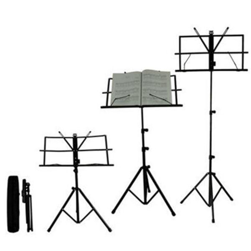 New Light Folding Portable music Stand Holder rack with Bag Universal Adjustable Metal guitar Instrument part accessories цены онлайн