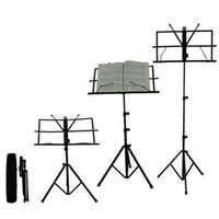New Sheet Folding Music Stand Metal Tripod Stand Holder With Soft Case With Carrying Bag Free