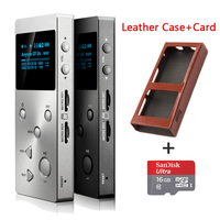 XDUOO X3 Professional lossless music player hifi digital mp3 support DSD/APE/FLAC/WAVWMA/OGG/MP3 dual SD slot+(16G TF Card+Case)