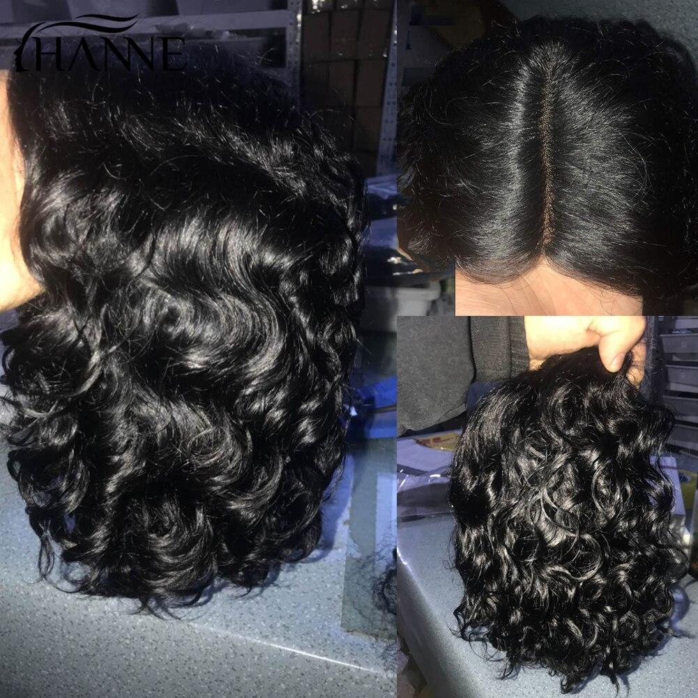 HANNE Hair Short Curly Bob Wig 1b#/30#/99j Color Brazilian Human Hair L Part Human Hair Wigs Wave Remy Wig For Black/White Women