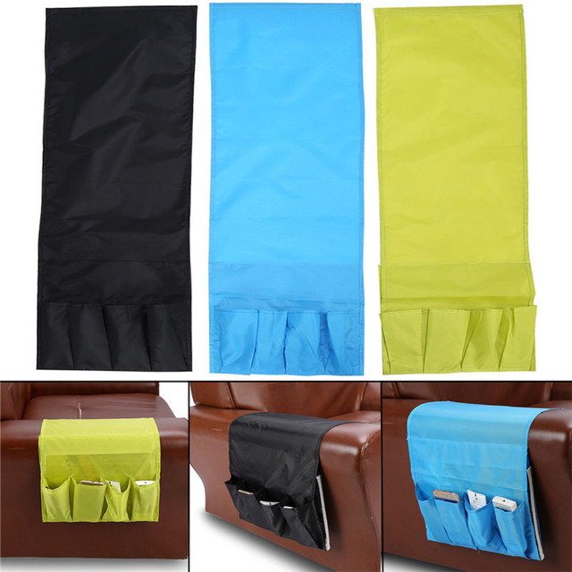 4 Pocket Hanging Sofa Couch Tv Remote Control Phone Holder Organizer Arm Rest Household Storage