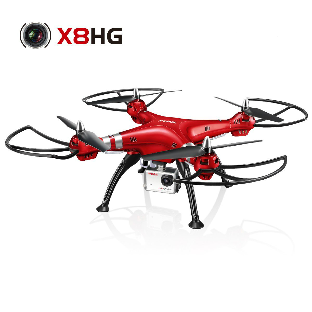 Syma X8HG 8.0MP HD Camera Drone with Altitude Hold & Headless Mode 3D Flips RC Quadcopter syma x15w drone with 0 3mp camera wifi fpv rc quadcopter g sensor barometer set height headless mode 3d flips app control drone