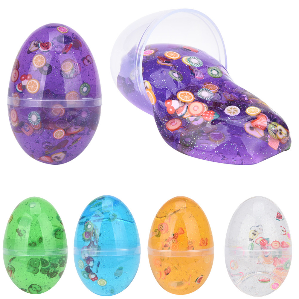 Toys for children 5 Colors Slime Adults Slime Egg Colorful Soft Slime Scented Stress Relief Toy Sludge Exercise the brain colorful diy creative funny egg crystal mud toy for reducing stress