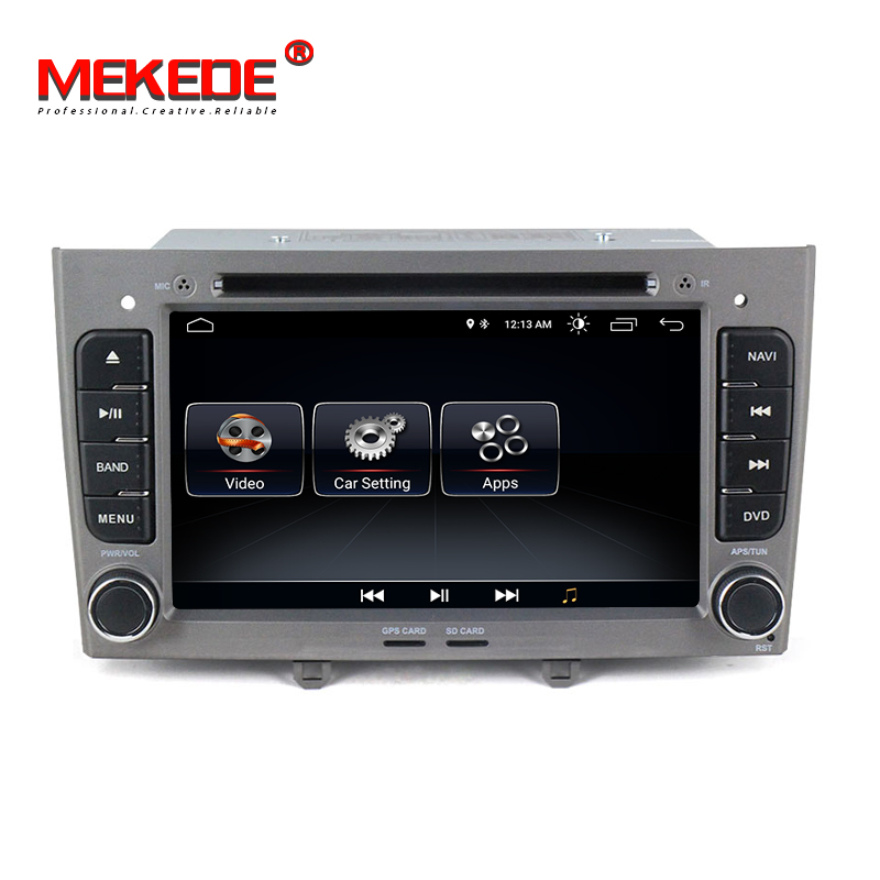Gray colour! Android 8.1 multimedia unit car radio player for <font><b>Peugeot</b></font> <font><b>308</b></font> 408 support <font><b>GPS</b></font> navigation Steering wheel controls image