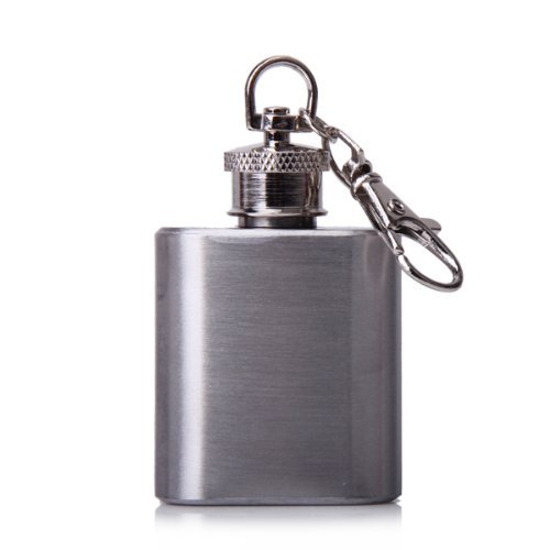 Bestselling 1 oz Silver Portable Stainless Steel Hip Flask Keychain