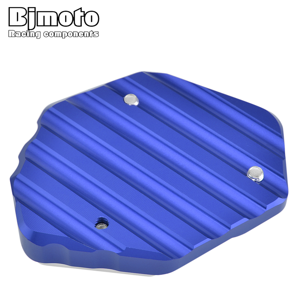 BJMOTO Motorcycle Kickstand Side Stand Extension Pad Enlarge Support Plate For YAMAHA XSR900 Abarth MT-09 MT09 Tracer 900 GT