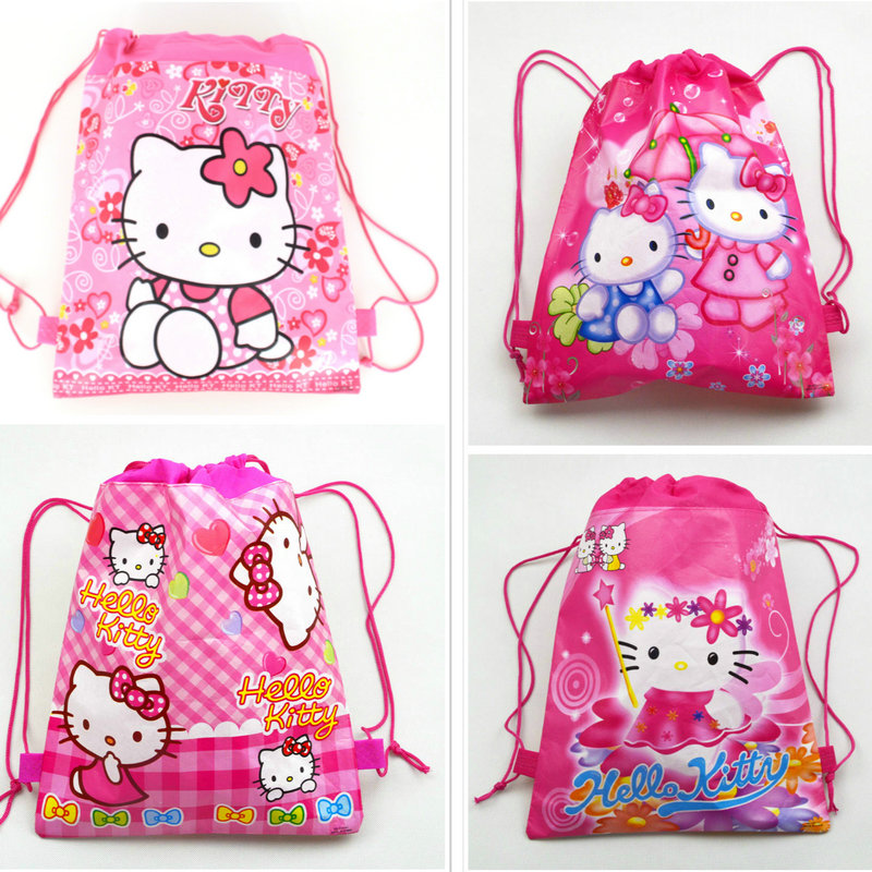 цены Fashion cartoon Backpack cute children Non-woven Drawstring Bag Pouch Pockets Children School Bags boys girls best Gift