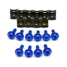 brand new  6mm cnc aluminum blue  motorcycle parts  fairing bolts screws For YAMAHA YZF R1 R6 1998 1999 2000 2001 2002 2003 2004 yzf r1 engine stator cover crankcase for yamaha yzf r1 1998 2003 1999 2000 20001 2000 new brand one piece