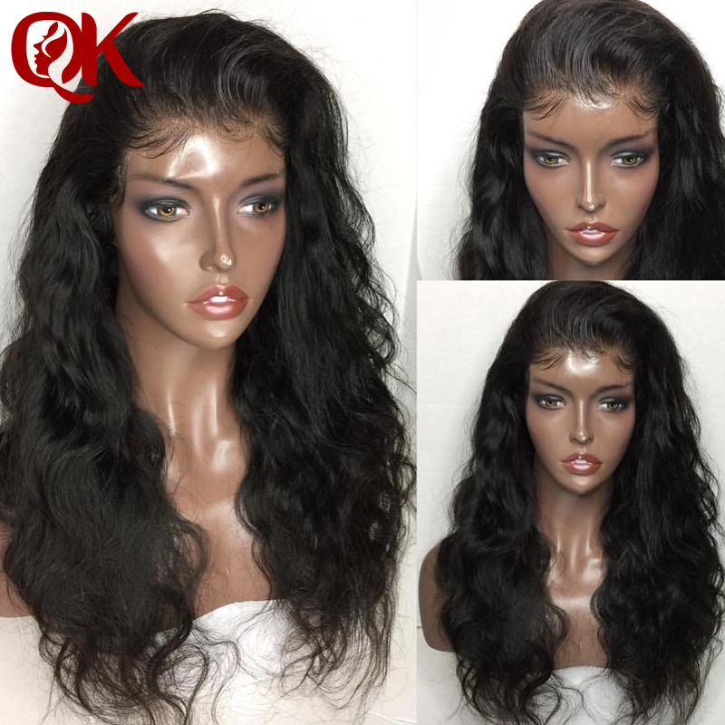QueenKing Hair  Body Wave Lace Front Human Hair Wigs PrePlucked Hairline Brazilian Remy Lace Wig With Baby Hair Natural Color