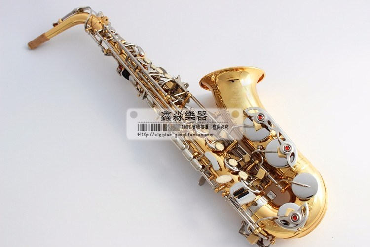 цена Alto France SAS-54 Saxophone alto saxophone gold tube Nickel button Free delivery Sax instrument High quality saxophone
