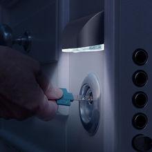 Светодиодный Ночной светильник умный дверной замок с ручкой