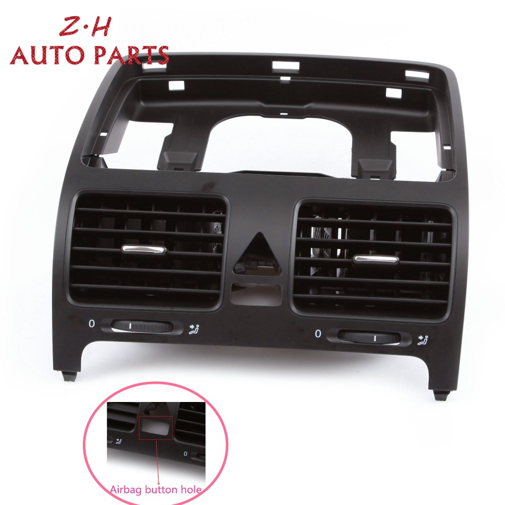 NEW Black Front Dashboard Central Air Outlet Vent 1K0 819 728 H For VW Volkswagen Jetta