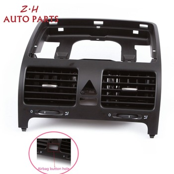 NEW Black Front Dashboard Central Air Outlet Vent 1K0 819 728 H For VW Volkswagen Jetta MK5 Golf MK5 Rabbit 2006-2009 1K0819743B oem black battery tray mount bracket for vw golf gti jetta mk5 mk6 tiguan eos passat b6 1k0 915 333 h 1k0 915 333 b c d