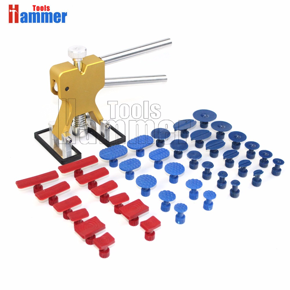 pdr dent lifter paintless dent repair with 40 glue tabs   Hammer PDR Tools good tools for car dent repair  цены