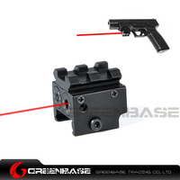 Greenbase Micro Tactique Mini Pistolet Red Dot Lazer Vue Pistolet Laser Pointeur Sites Tactiques Airsoft avec Top Rail D'extension